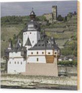 Burg Pfalzgrafenstein And Burg Gutenfals Squared Wood Print