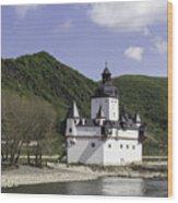 Burg Pfalzgrafenstein Squared Wood Print