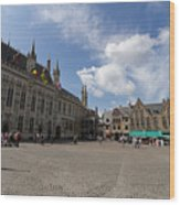Burg Square In Bruges Belgium Wood Print
