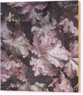 Burgandy Leaves After The Rain Wood Print by Anna Villarreal Garbis