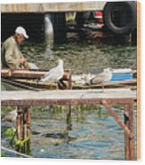 Burgazada Island Fisherman Wood Print