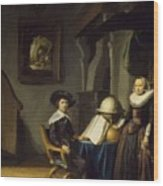 Burgomaster Hasselaar And His Wife Wood Print