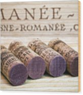 Burgundy Wine Corks Wood Print by Frank Tschakert