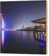 Burj Al Arab In Dubai, United Arab Emirates Wood Print