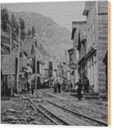 Burke Idaho Ghost Town In Its Prime Wood Print