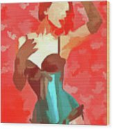 Burlesque Red Wood Print
