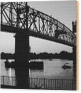 Burlington Bristol Bridge  Wood Print by D R TeesT