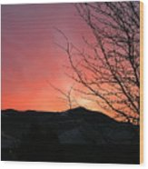 Burlington Sunrise Wood Print