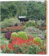 Burma Village Garden Wood Print