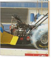 Burn Out On The Track Wood Print