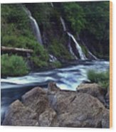 Burney Falls Creek Wood Print