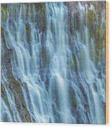 Burney Falls Detail Wood Print