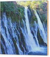 Burney Falls  Wood Print