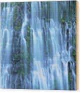 Burney Falls Mist Mcarthur Burney Sp California  Wood Print