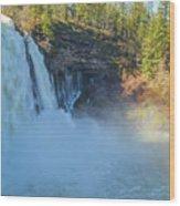 Burney Falls Wide View Wood Print
