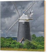 Burnham Overy Mill Wood Print