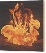 Burning Fire Wood Print by Stephanie  Varner