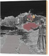 Burning House Destroyed By The Ss Soviet Union Number One 1941 Color Added 2016 Wood Print