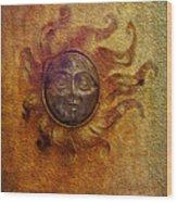 Burning Sun Wood Print