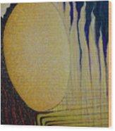 Burning Yellow Wood Print