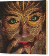 Burnished Gold Wood Print