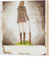 Burnt From A Far Wood Print