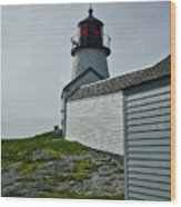 Burnt Island Light Station 3 Wood Print
