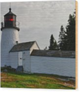 Burnt Island Lighthouse  - The Other Side Wood Print
