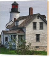 Burnt Island Lighthouse Side View Wood Print