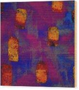 Burnt Orange Floating Wood Print