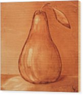 Burnt Sienna Pear Wood Print
