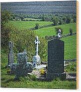 Burren Crosses County Clare Ireland Wood Print