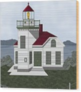 Burrows Island Lighthouse Wood Print