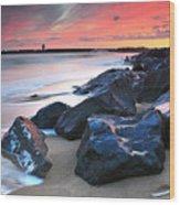 Burry Port 3 Wood Print