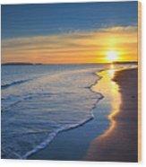Burry Port Beach Wood Print