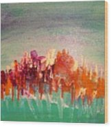 Bursting Forth Wood Print