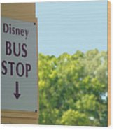 Bus Stop Wood Print