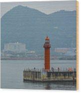 Busan Lighthouse Wood Print