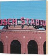 Busch Stadium Ball Park Wood Print