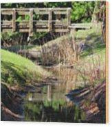 Buschman Park Bridge Wood Print