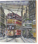 Buses Trams Trolleys Wood Print