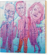 Bush Administration 2008 Wood Print by Danielle Criswell