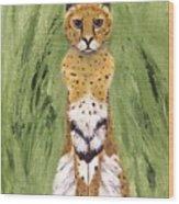 Bush Cat Wood Print