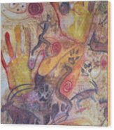 Bushman Comes Alive Wood Print