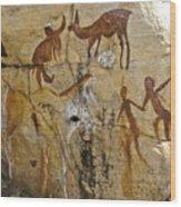 Bushman Painting Wood Print