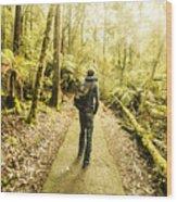 Bushwalking Tasmania Wood Print