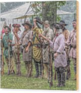 Bushy Run Milita Camp Roll Call Wood Print by Randy Steele