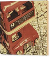Bussing Britain Wood Print