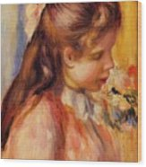 Bust Of A Young Girl Wood Print
