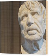 Bust Of An Old Man Wood Print